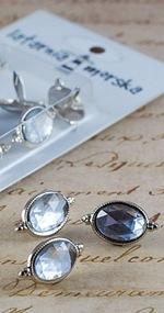 Kryształy owalne w ozdobnej ramce