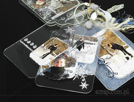 zimowy albumik akrylowy 2 ZN