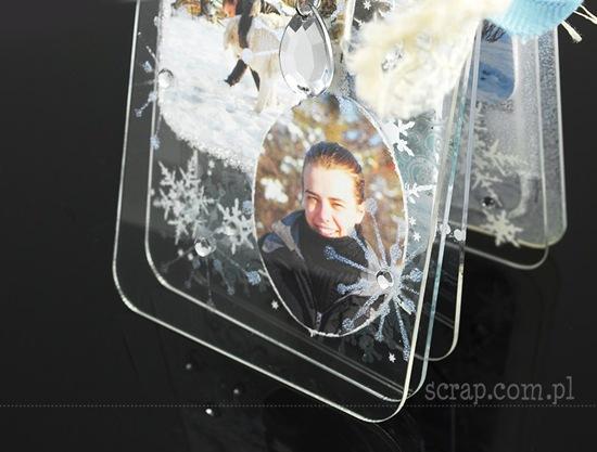 zimowy albumik akrylowy 3 ZN