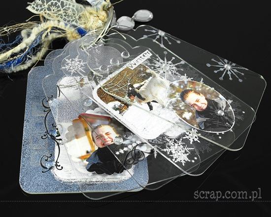 zimowy albumik akrylowy