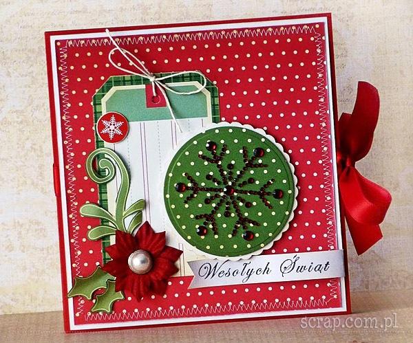 świąteczny folder na prezent
