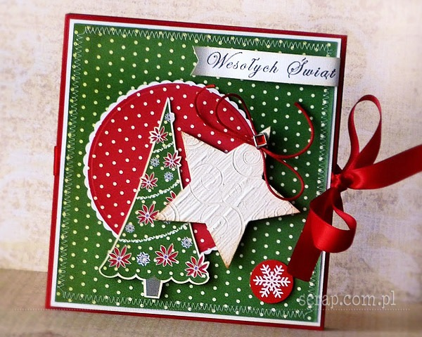 folder na prezent na Boże Narodzenie