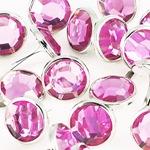 krysztaly okragle rozowe