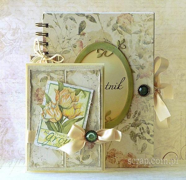 komplet upominkowy - pamiętnik i kartka