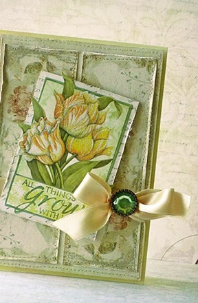 ręcznie wykonana kartka