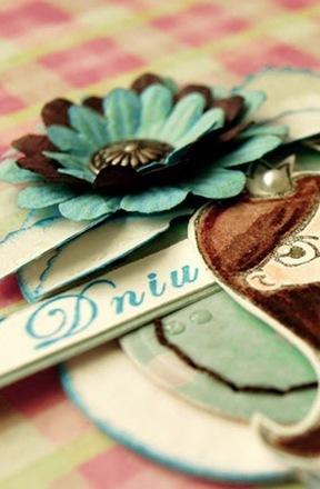 kartka urodzinowa ze stemplem do kolorowania
