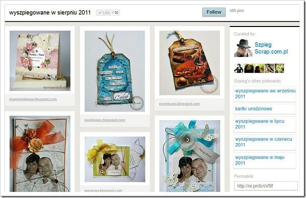 Pinterest Sierpien 2011