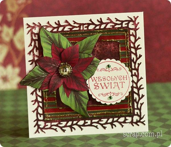 kartka świąteczna z poisencją