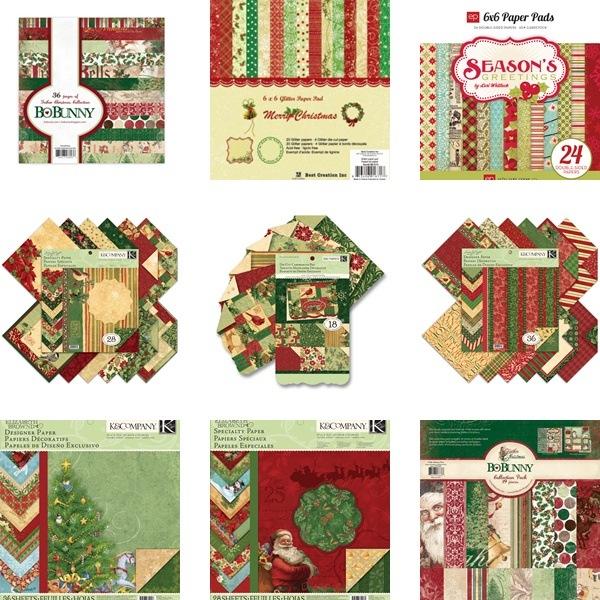 zestawy świątecznych papierów