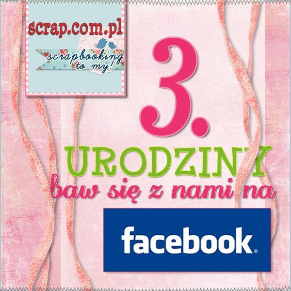 3 urodziny - zaproszenie na FB