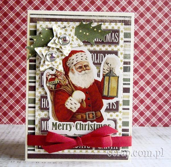 kartka na Boże Narodzenie z Mikołajem