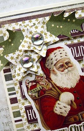 kartka świąteczna z Mikołajem zbliżenia