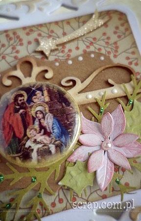 Swieta_Rodzina_poinsencja_kartka_handmade_detale