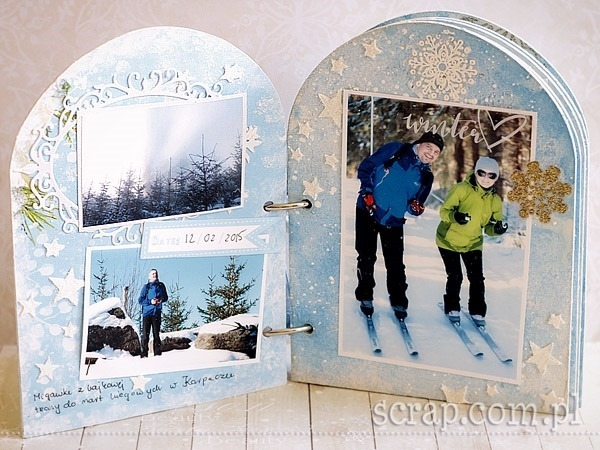 album_zimowy_ferie_narty_scrapbooking