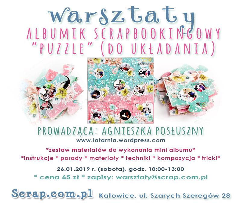 warsztaty album scrapbookingowy PUZZLE Katowice